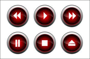 ベクトル光沢のあるボタン