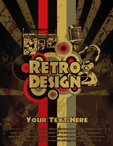 Vector Retro Grunge Concert Poster