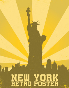 Vector Retro New York Background