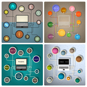 Vector Set Of Creative Web Design Templates