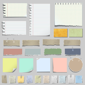 Vector Set Of Various Notes Papier