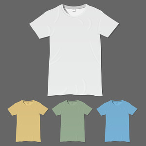 Vector de la camiseta plantillas de diseño
