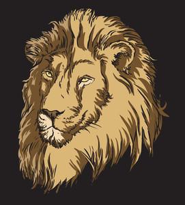 ライオンとベクトルTシャツデザイン