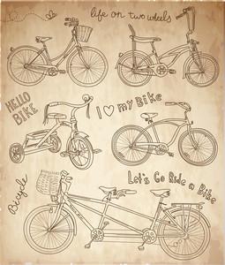 Conjunto de bicicletas de época