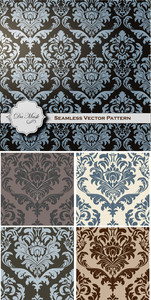 Vintage Damask Pattern Vector Backgrounds