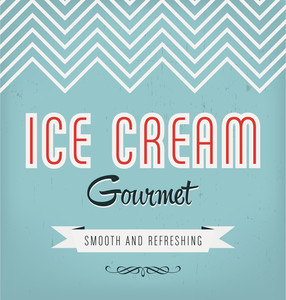 Vintage Ice Cream Label Design
