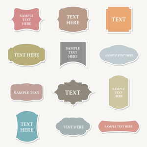 Vintage Labels Set Vector Illustration