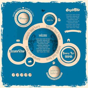 Vintage-Web Design Bubbles