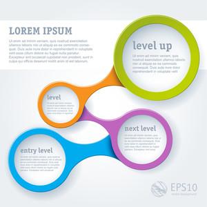 Webseite Infografik Loop-Vorlage, Vektor-Design-Rahmen.