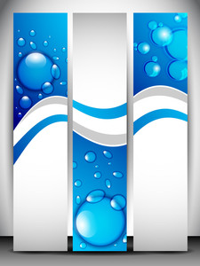 ウェブサイト水ヘッダーやバナーセット