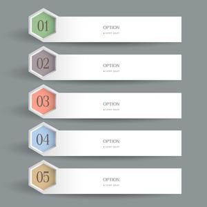 Weiße horizontale Design-Vorlage