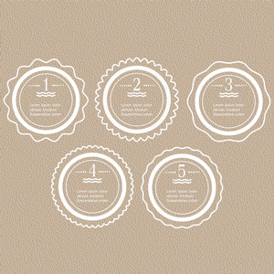 インフォグラフィックデザインのためのホワイトラウンドバナー-オプション