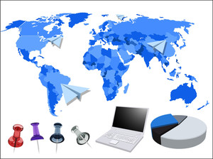 World Map And Business Elements