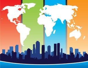 Carte du monde Et City Design