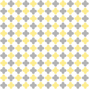 Yellow And Grey Quatrefoil Pattern