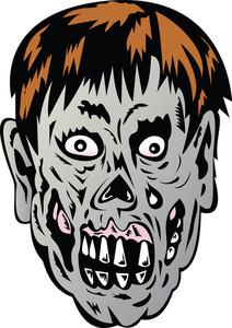 좀비 두개골 얼굴 몬스터