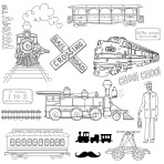 ヴィンテージ列車や鉄道いたずら書きのコレクション
