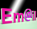 E-mail Letters Shows Online Mailing And Messaging