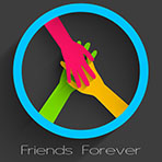 Happy Friendship Day Background With Hands Shaking On Grey Background.