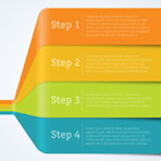 Rainbow Chart Template For Infographics. Vector