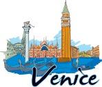Venice Vector Doodle