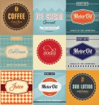 Vintage Label Design Set