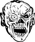 Zombie Skull Face Monster