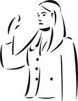 Illustration Of A Lady Lawyer.