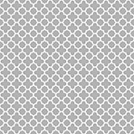 Pattern Of Grey And White Quatrefoil