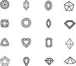 2d Diamonds Set